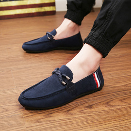 Spring new set of men's shoes driving men's casual fashion trend peas shoes student rope accessories single shoes