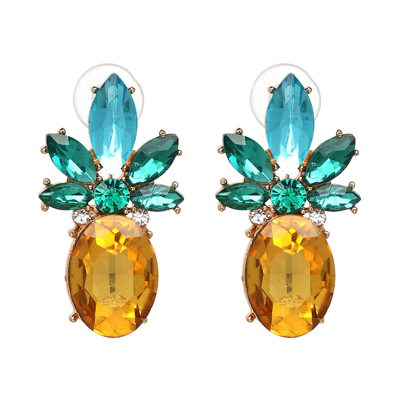 Other Imitated crystal&CZ  earring Geometric (color)  NHJJ3646-color