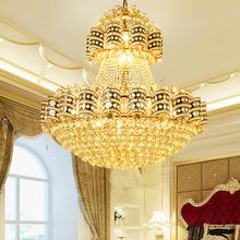 金色大厅水晶吊灯 欧式别墅会所酒店大堂吊灯餐厅客厅吊灯工程灯