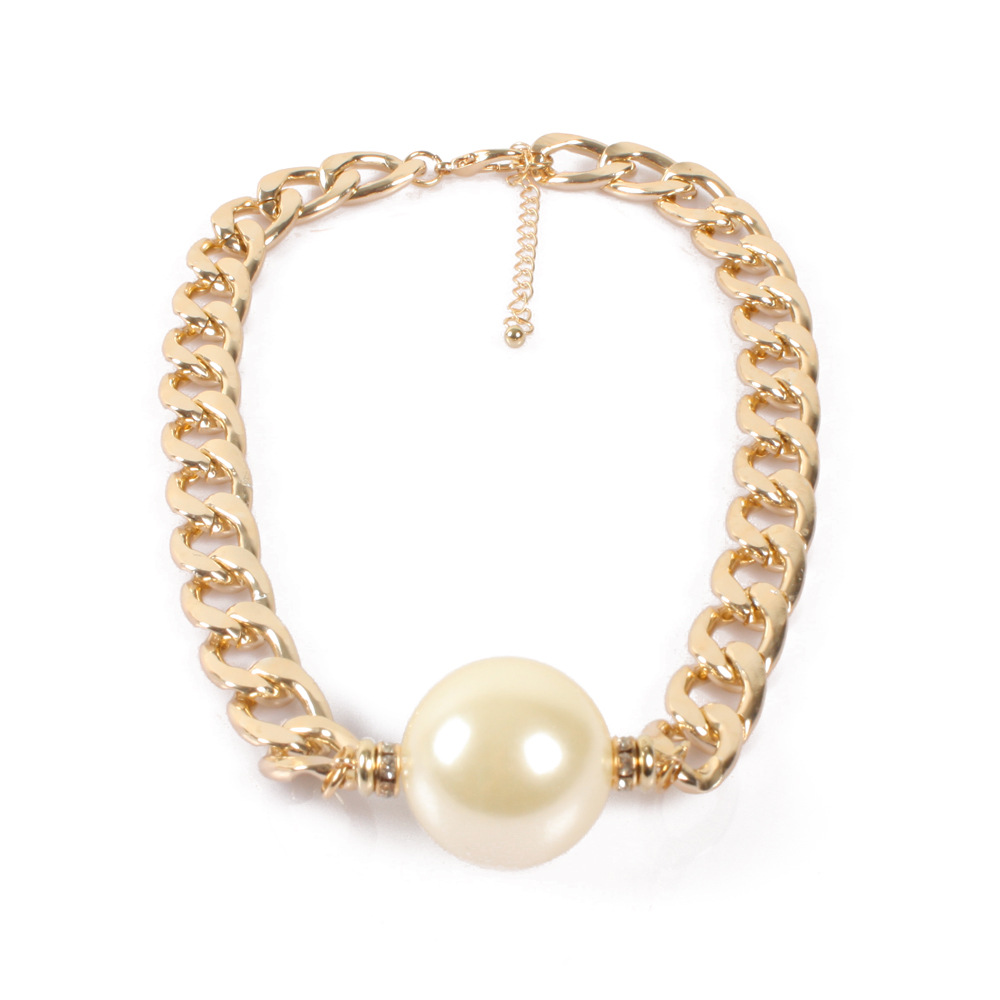 Occident and the United States pearlnecklace (creamy-white)NHCT0119-creamy-white