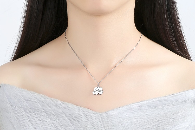 Korea Silver plating necklace Geometric (925 Silver)NHAT0122-925 Silver