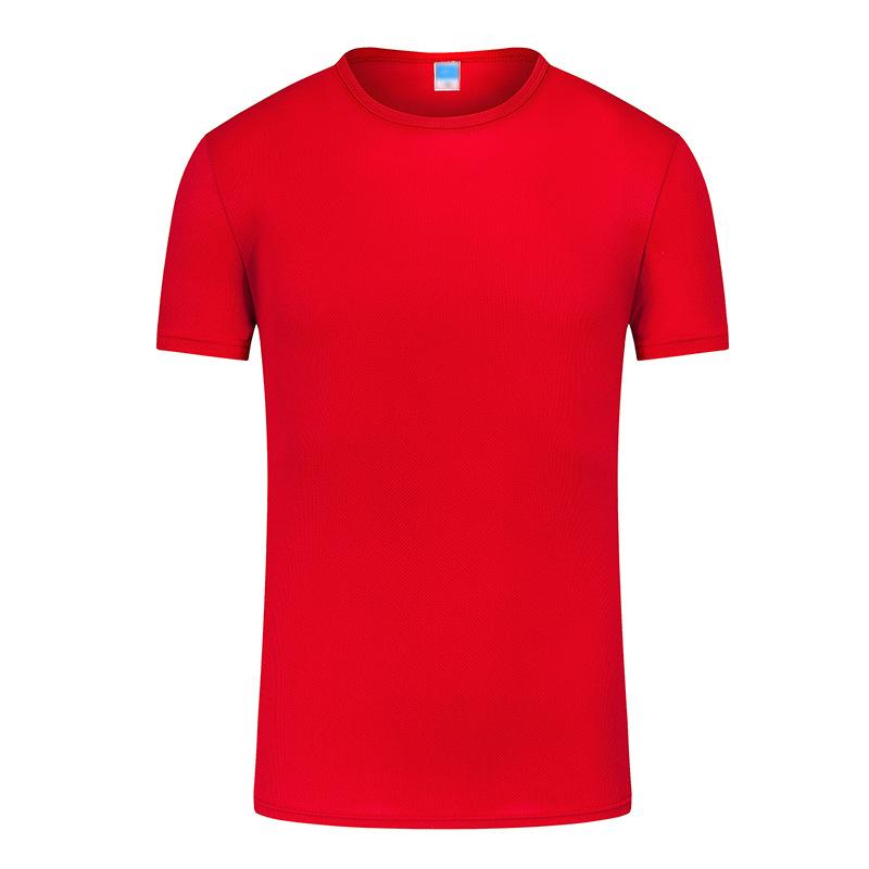 批发订做春夏新款户外速干t恤运动健身排汗男速干衣DIY广告衫定制