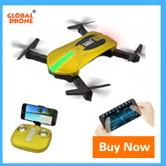 Global Drone Foldable Mini Pocket Selfie Helicopter Drone Smartphone Control 3-Axle Gimbal GPS RC Quadcopter FPV with HD Camera