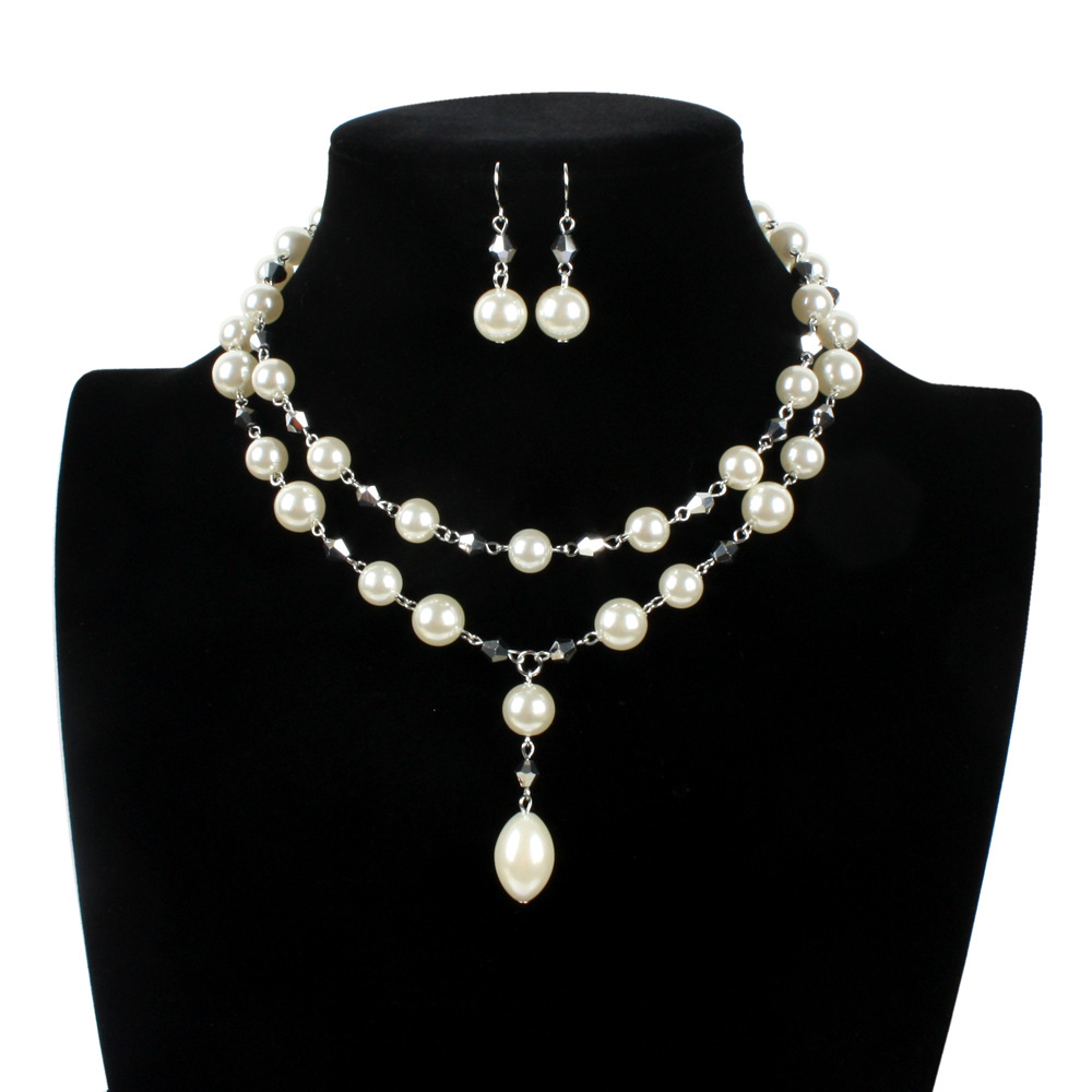 Occident and the United States pearlJewelry Set (creamy-white)NHCT0108-creamy-white