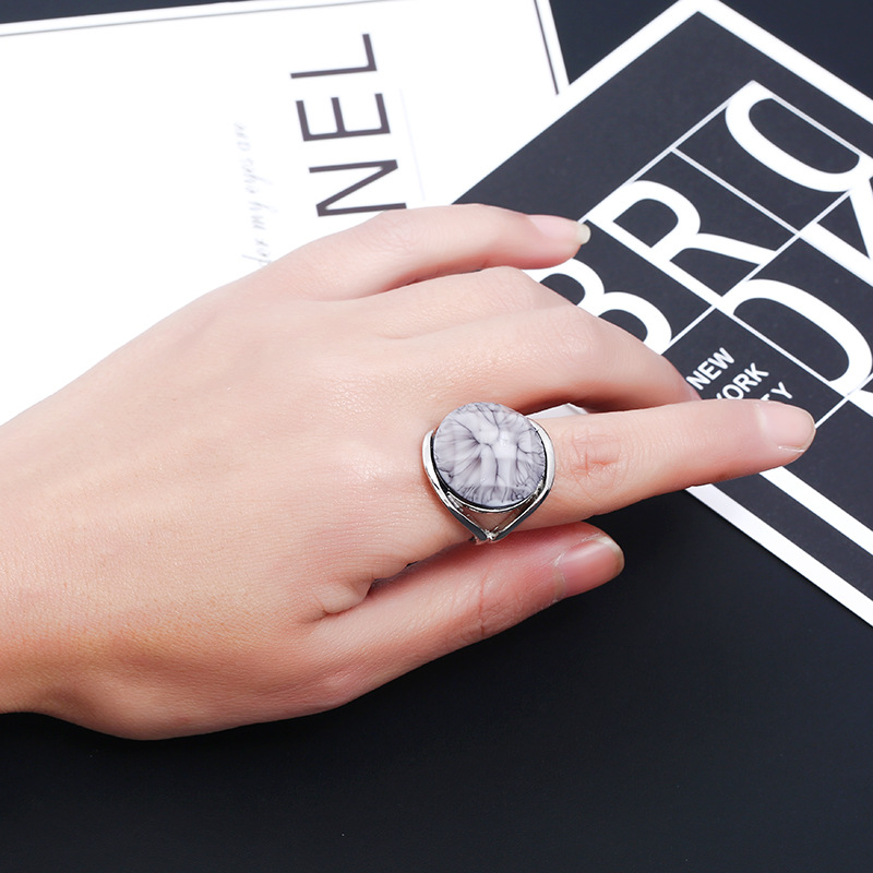 Fashion Alloy plating Rings  (White K Gray -6)  NHKQ1445-White K Gray -6