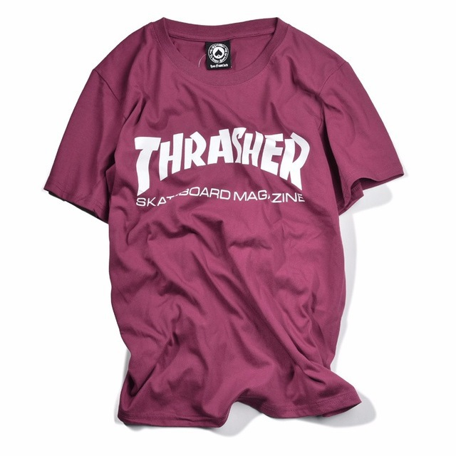 New-thrasher-T-Shirt-Men-Skate