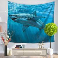 实力工厂亚马逊wish 挂毯 海洋鲨鱼系列 装饰挂毯 GT1079