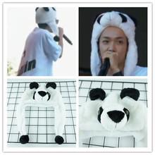 中国有嘻哈你的男孩TT同款帽子熊猫可爱卡通毛绒护耳帽秋冬保暖帽