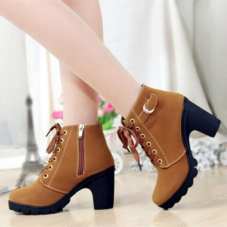 New high-heeled thick-heeled casual wome...