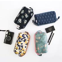 韩版多功能创意时尚化妆品收纳袋便携可爱钢架化妆包洗漱包手包