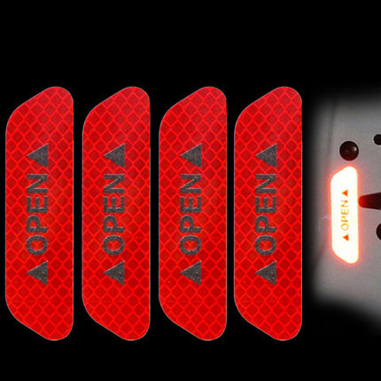 7704114756 689573554 - Reflective stickers 4pcs For Car door safety