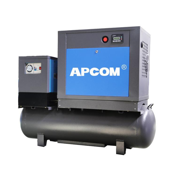 7.5kw气泵 静音无声喷漆用空气压缩机 一体式小型螺杆式空压机