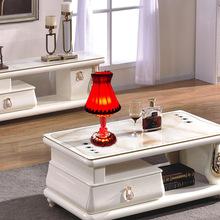 個性家居擺件定制客廳充電LED蠟燭水晶臺燈結婚禮物創意禮品