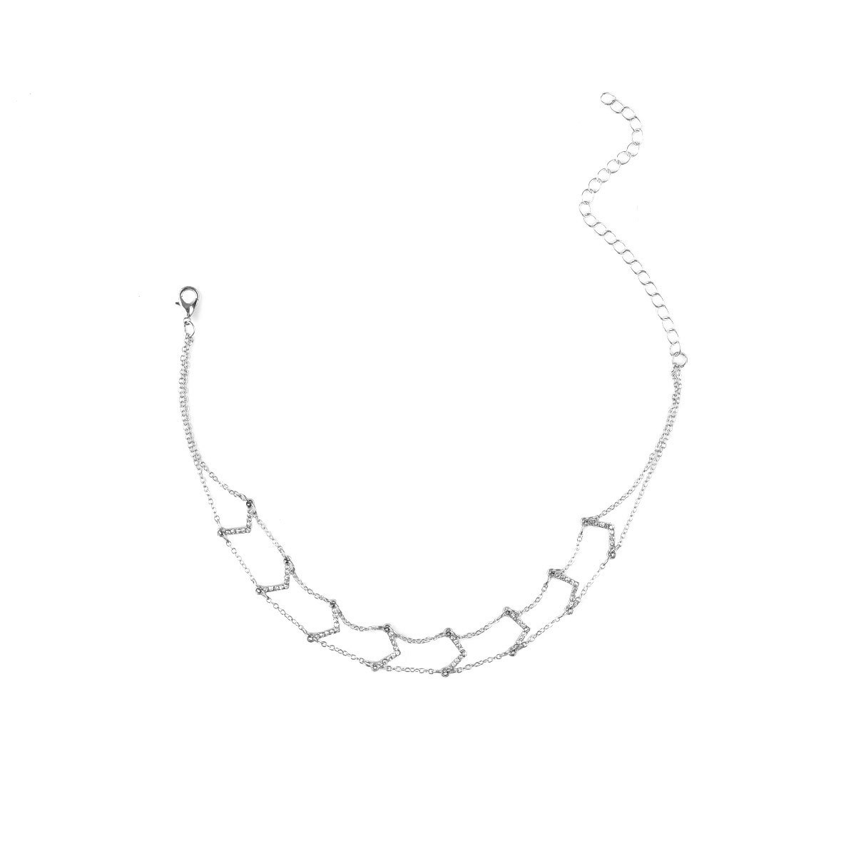 Occident and the United States alloy plating Necklace Set (Set-X0126 silver)NHXR1450-Set-X0126 silver