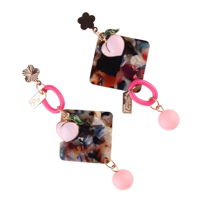 Fashion OL agateearring (color)NHJQ9173-color