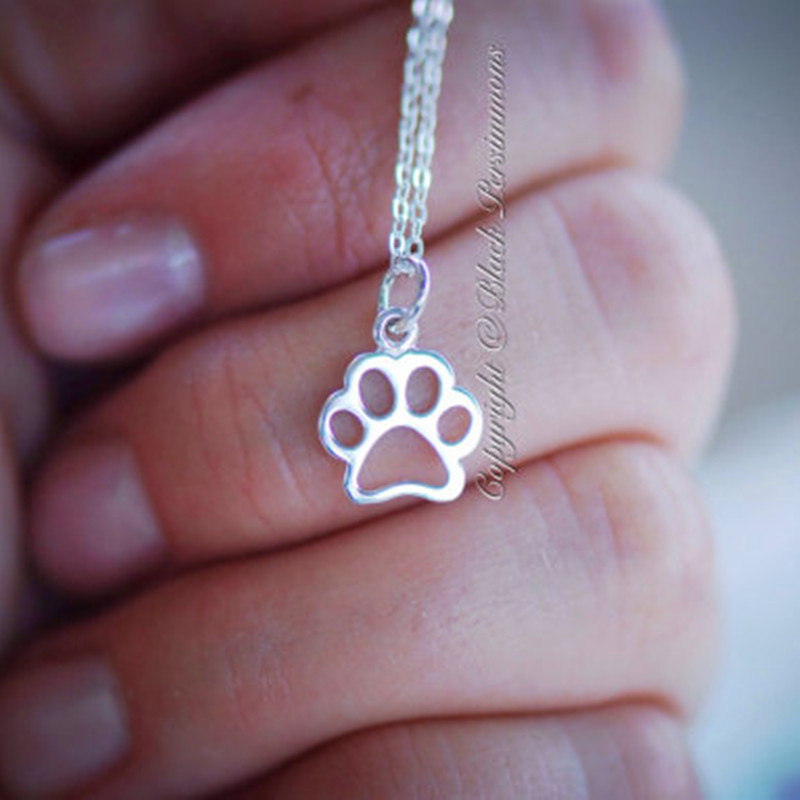 Hollow cat claw dog claw necklace animal footprints necklace cat claw foot necklace clavicle chain wholesale trend NHCU178315