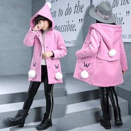 5女童洋气外套毛呢6女孩7秋冬装8长款大衣9风衣10加厚11上衣12岁