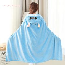 法蘭絨星際寶貝史迪奇史迪仔宅人披肩披風斗篷空調毯子懶人毯睡衣