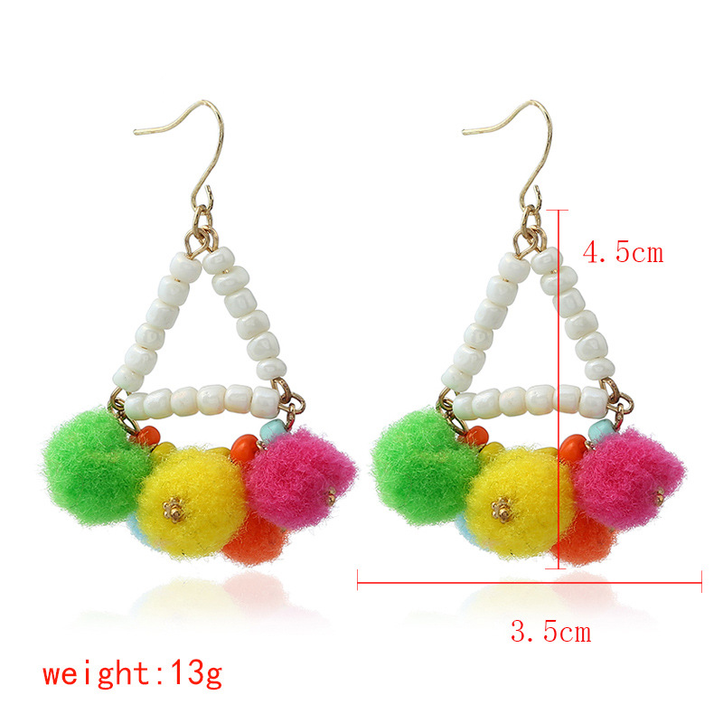 Occident and the United States alloy Handmade earring (Mixed color)NHNNZ3016-Mixed color