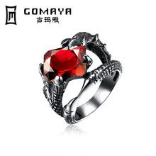个性魔爪镶锆石复古戒指 男士欧美钛钢手饰 爆款wish厂家直销