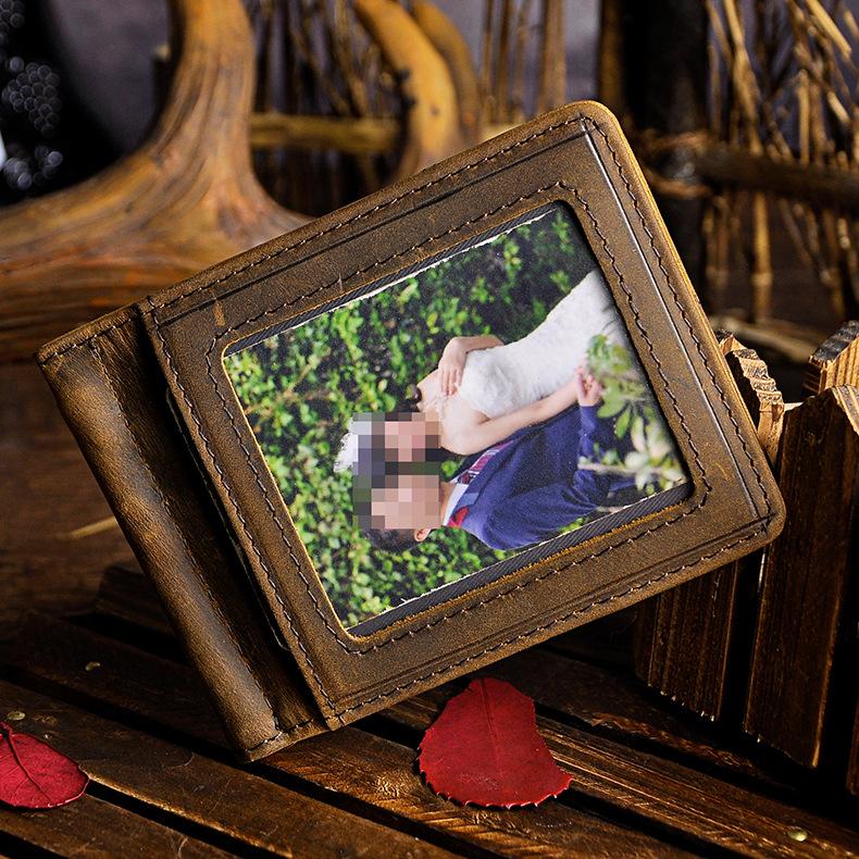 clipe carteira cartão de visita foto titular