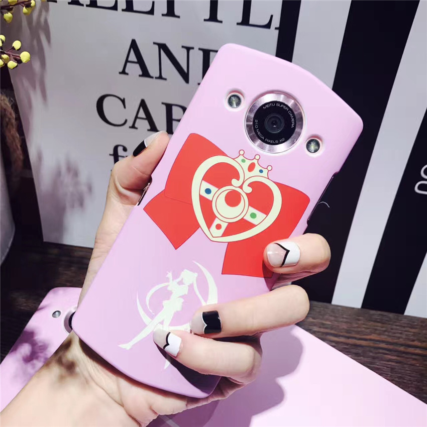 Cartoon cute bow pink beautiful girl Warrior Mito T8 mobile phone shell M8 water stick hard shell female protective cover