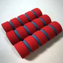 厂家直销 红灰现货内径20mm双色泡棉套 跳绳105长海绵把套