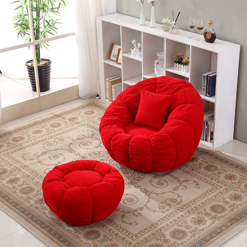 个性时尚懒人旋转南瓜沙发客厅休闲躺椅卡通卧室阳台单人小沙发