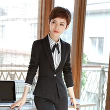 秋冬长袖职业装女套装时尚OL文员办公职业套装?#39057;?#22899;套装工作服