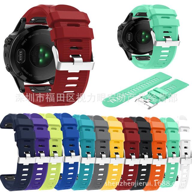 佳明Garmin Fenix5X快拆硅胶表带飞耐时Fenix5X心率运动款手表带