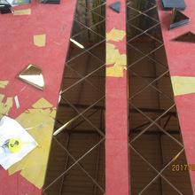 河?#32972;?#23478;定制 玻璃拼镜菱形 茶色银镜粉色灰色菱形镜子 承接工装