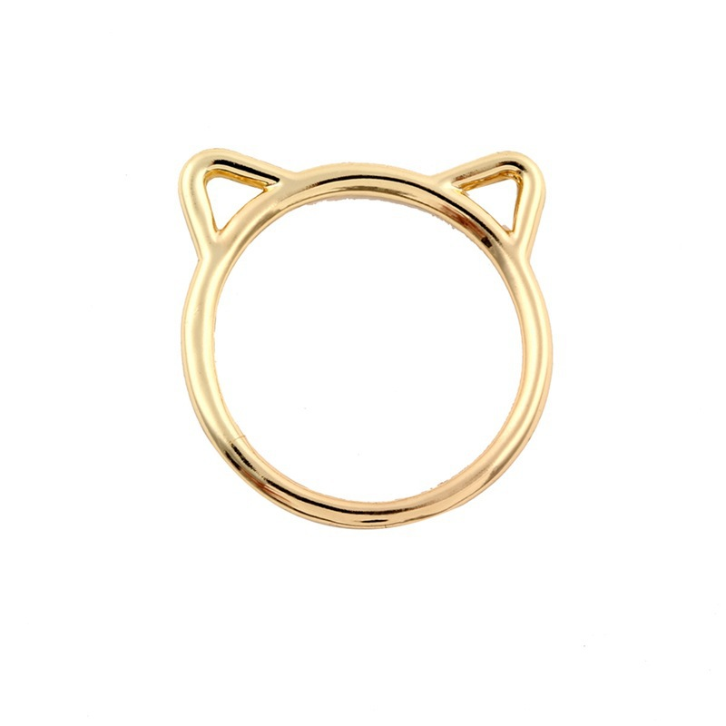 New Fashion Cat Shape Ring Ring Alloy Plating Cat Ring Wholesale NHCU206507