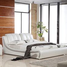 真皮床雙人床1.8米簡約現代主臥室成人高箱儲物床1.5米婚床軟體床