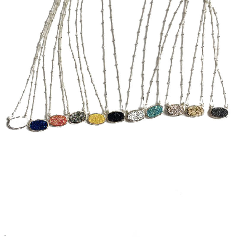 Alloy Fashion  necklace  (yellow) NHOM0008-yellow