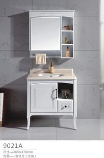 PVC浴室柜厂家批发实木 卫生间洗手台柜子 人造玉石台下盆