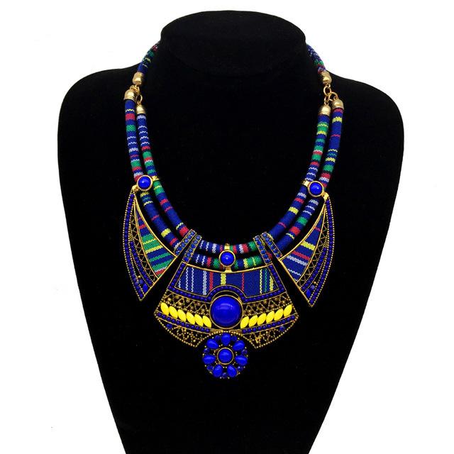 欧美时尚波西米亚民族风 米珠镶钻项链 跨境电商亚马逊专供饰品
