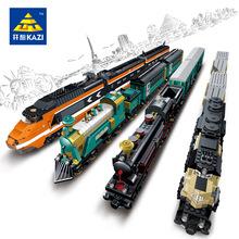 开智火车拼装积木兼容乐高轨道组装玩具托马斯小火车益智积木批发