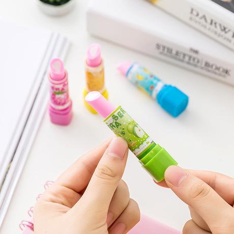 Văn phòng phẩm Hàn Quốc, tẩy xóa phong cách son môi sáng tạo, học sinh tiểu học, văn phòng phẩm, giải thưởng trẻ em dễ thương