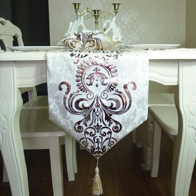 包邮黑色桌旗欧式美式简约烫金桌旗餐旗垫桌布茶几布电视柜桌布