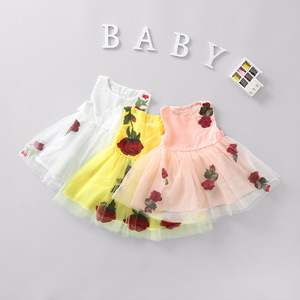 Girls summer dress children dress Korean small little girl child princess skirt Taobao sourcing agent