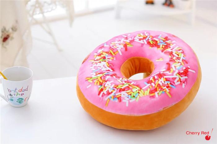 Nieuwe d donuts kussen voedsel shape kussen voor leunend op