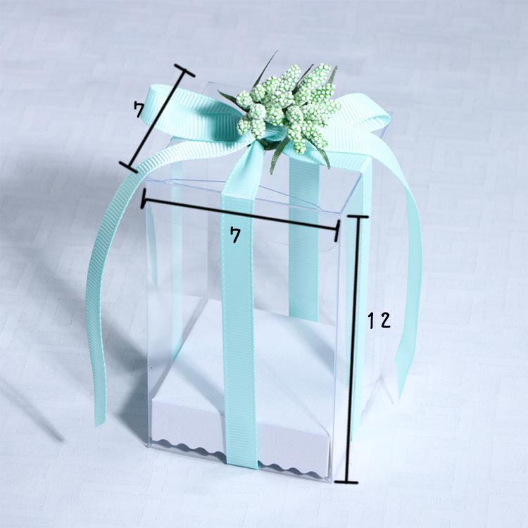 透明PVC塑料盒现货批发塑料包装盒喜糖盒DIY礼品盒植物观赏盒定制