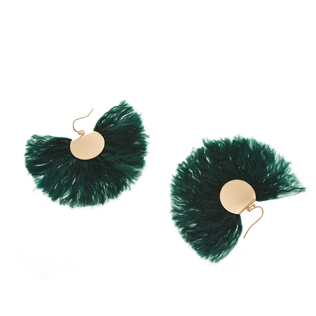 Occident and the United States metal plating earring (B0731 dark green)NHXR1444-B0731 dark green