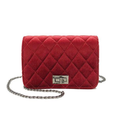 Mùa xuân mới kệ vàng nhung nhỏ vuông vuông túi chéo chéo túi đặc biệt cung cấp thẳng hàng loạt túi ngoại thương cung cấp túi xách
