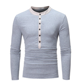 explosion-proof batch for autumn and winter new fake two-piece open long tube casual long-sleeved T-shirt T510