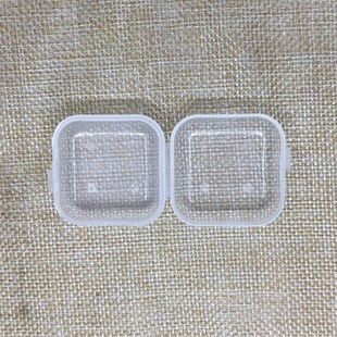 Earplug box Flip cover one-piece jewelry packaging Transparent decorative small objects Fish hook jewelry PP plastic box
