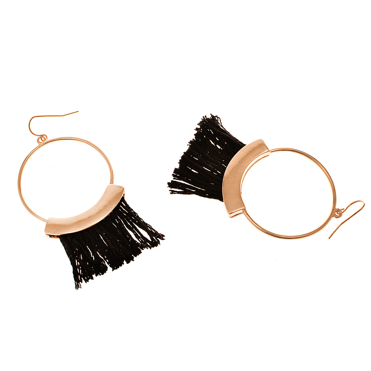 Occident and the United States alloy plating earring (B0652 black)NHXR1451-B0652 black