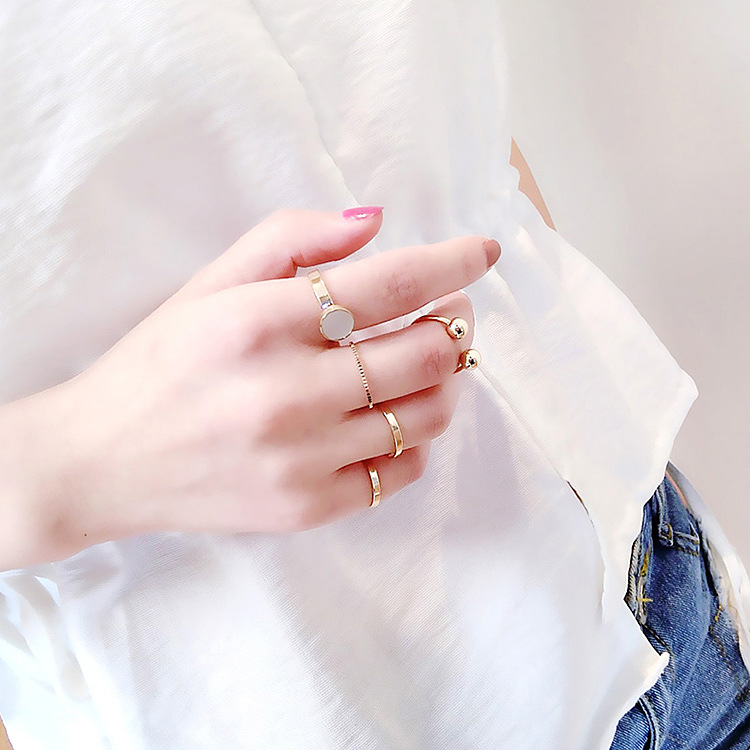 Alloy Korea Geometric Ring  (Main picture - one size)  Fashion Jewelry NHMS2152-Main-picture-one-size