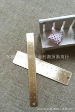 铜制直尺 12CM紫铜双刻度书签尺子 黄铜绘画制图 EDC配件量角器