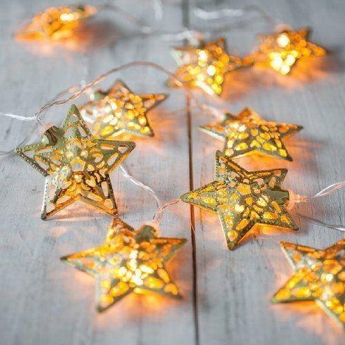 热销新款镂空星星造型铁艺LED节日装饰卧室婚庆户外防水灯串彩灯